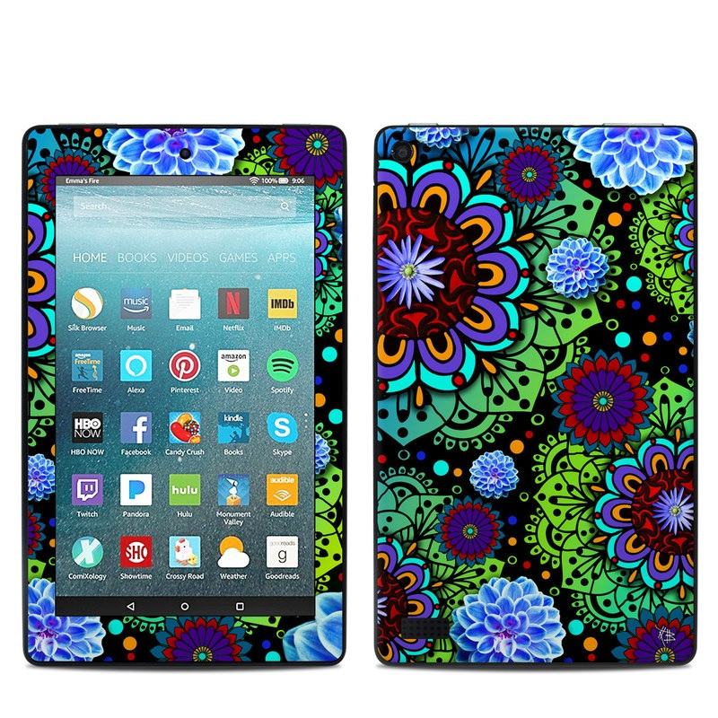 Funky Floratopia Amazon Fire 7 Skin