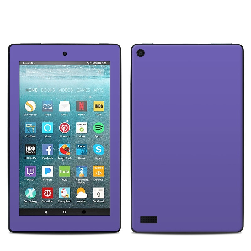 Solid State Purple Amazon Fire 7 Skin