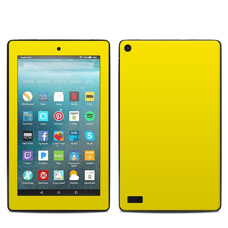 Solid State Yellow Amazon Fire 7 Skin