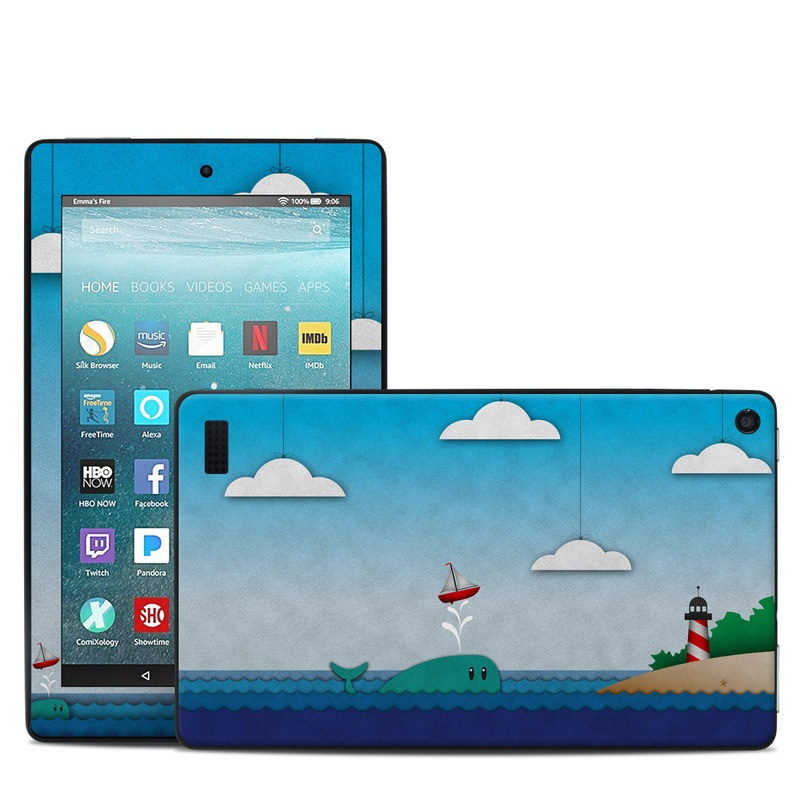 Whale Sail Amazon Fire 7 Skin