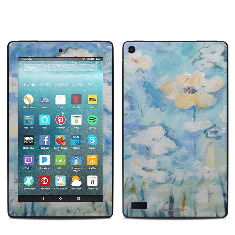 White & Blue Amazon Fire 7 Skin