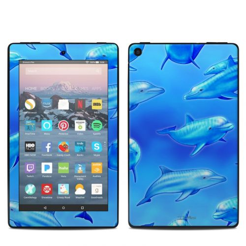 Swimming Dolphins Amazon Fire 7 2019 Skin