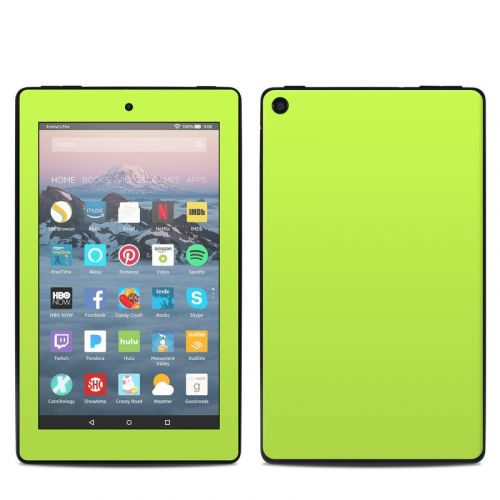 Solid State Lime Amazon Fire 7 2019 Skin
