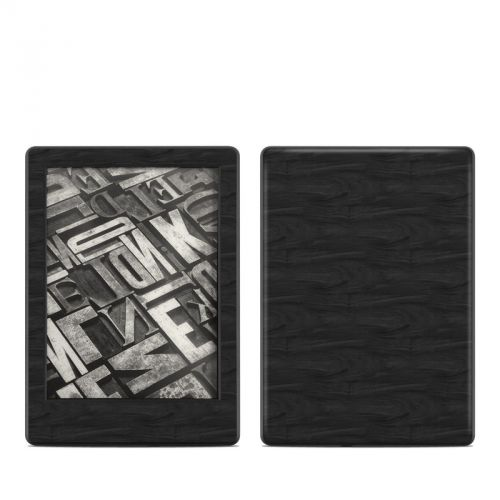 Black Woodgrain Amazon Kindle 8th Gen Skin
