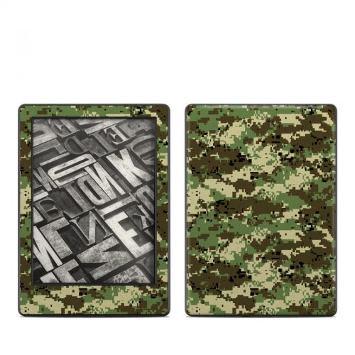 Digital Woodland Camo Amazon Kindle 8th Gen Skin