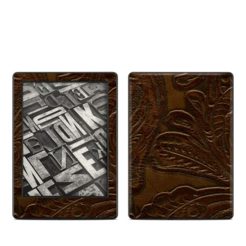 Saddle Leather Amazon Kindle 8th Gen Skin