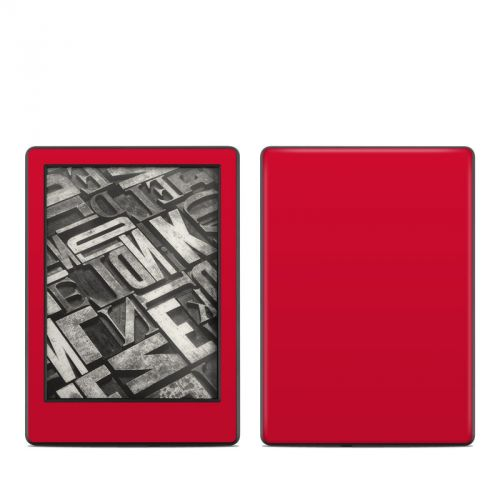 Solid State Red Amazon Kindle 8th Gen Skin