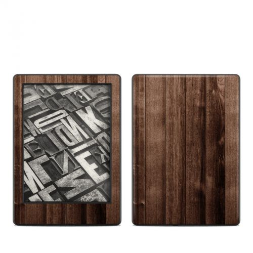 Stained Wood Amazon Kindle 8th Gen Skin