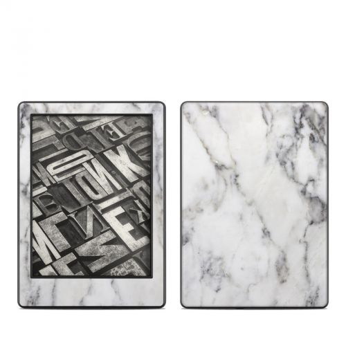 White Marble Amazon Kindle 8th Gen Skin