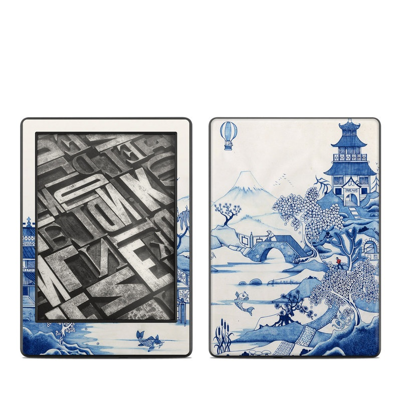 Blue Willow Amazon Kindle 8th Gen Skin