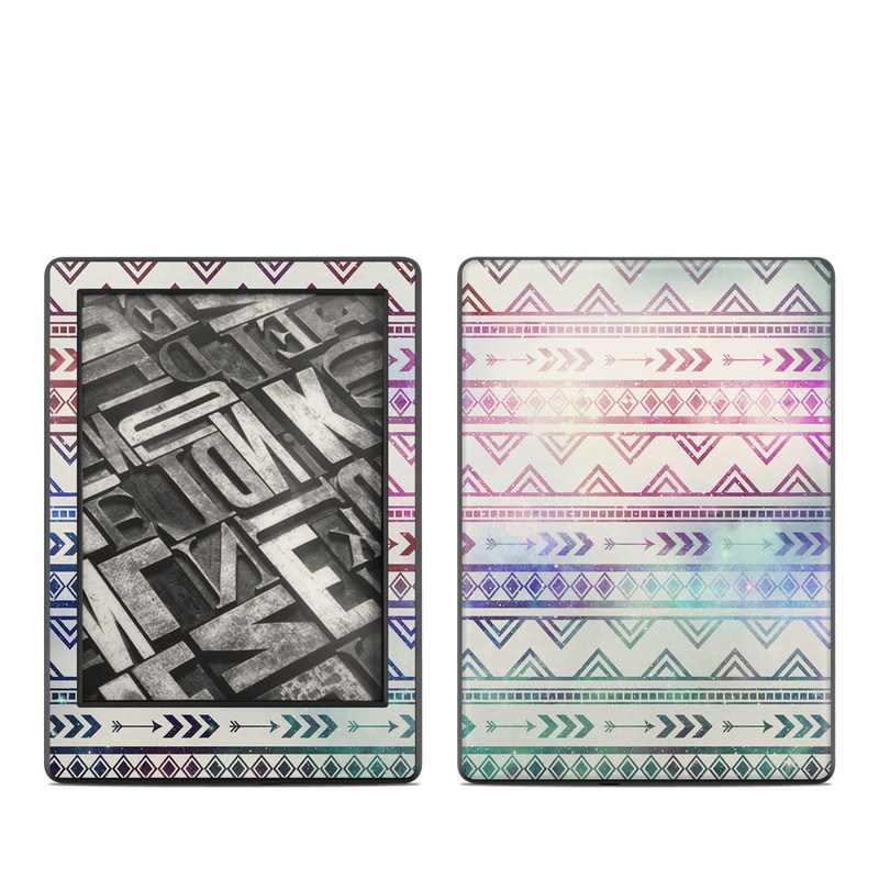 Amazon Kindle 8th Gen Skin design of Pattern, Line, Teal, Design, Textile with gray, pink, yellow, blue, black, purple colors