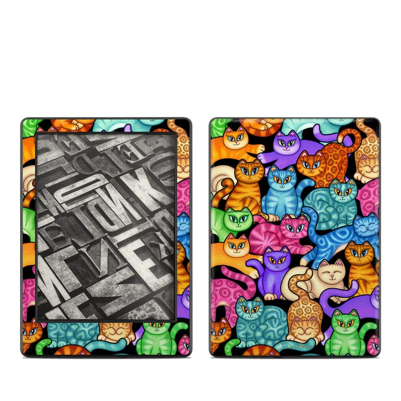 Colorful Kittens Amazon Kindle 8th Gen Skin