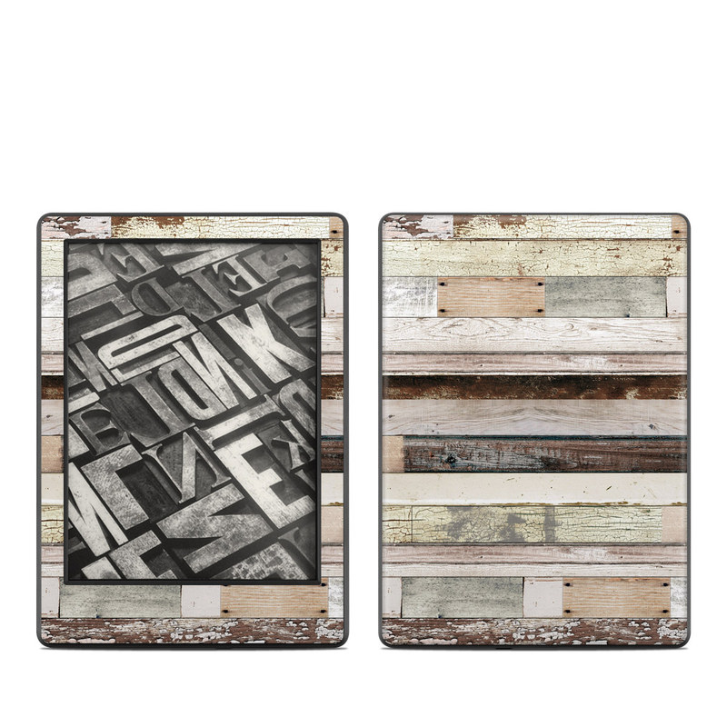 Eclectic Wood Amazon Kindle 8th Gen Skin