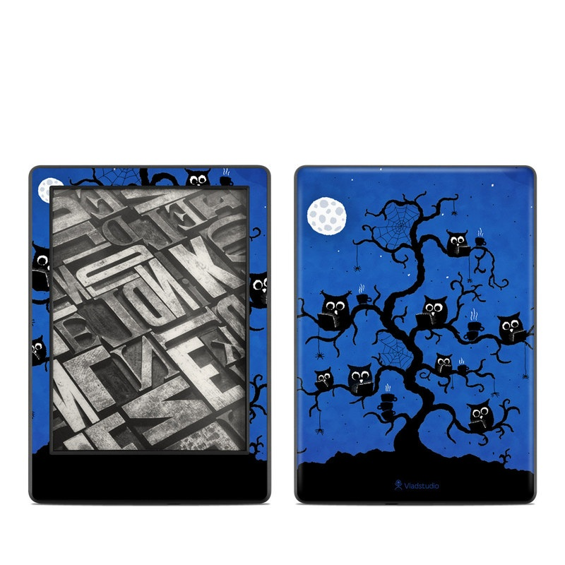 Amazon Kindle 8th Gen Skin design of Illustration, Organism, Pattern with blue, black colors