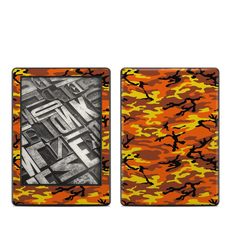 Orange Camo Amazon Kindle 8th Gen Skin
