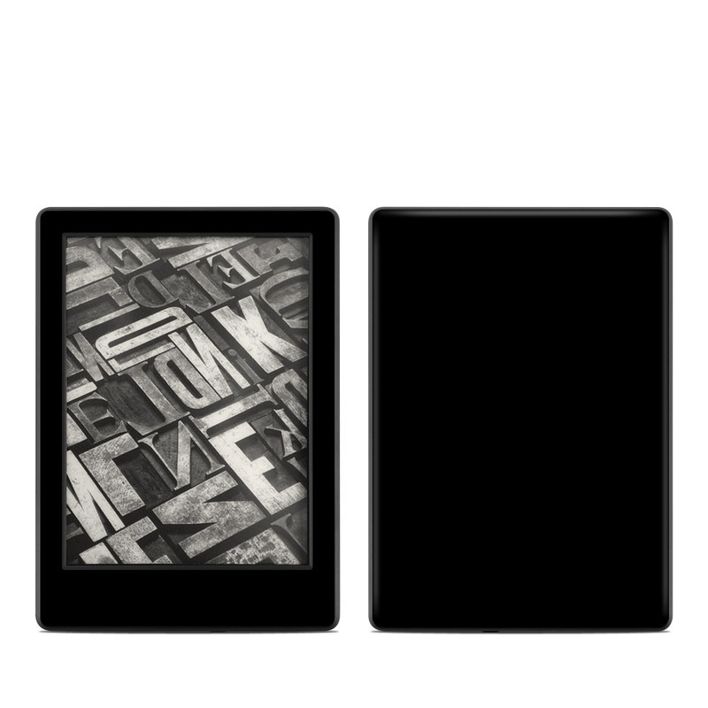 Amazon Kindle 8th Gen Skin design of Black, Darkness, White, Sky, Light, Red, Text, Brown, Font, Atmosphere with black colors