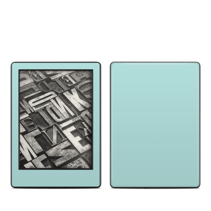 Amazon Kindle 8th Gen Skin design of Green, Blue, Aqua, Turquoise, Teal, Azure, Text, Daytime, Yellow, Sky with blue colors