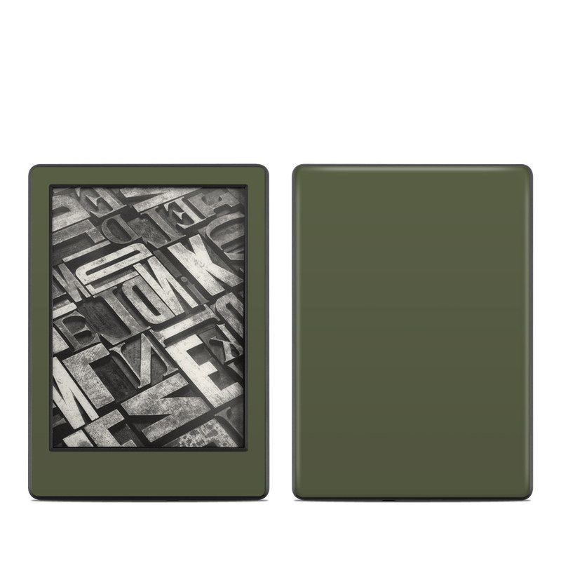 Solid State Olive Drab Amazon Kindle 8th Gen Skin