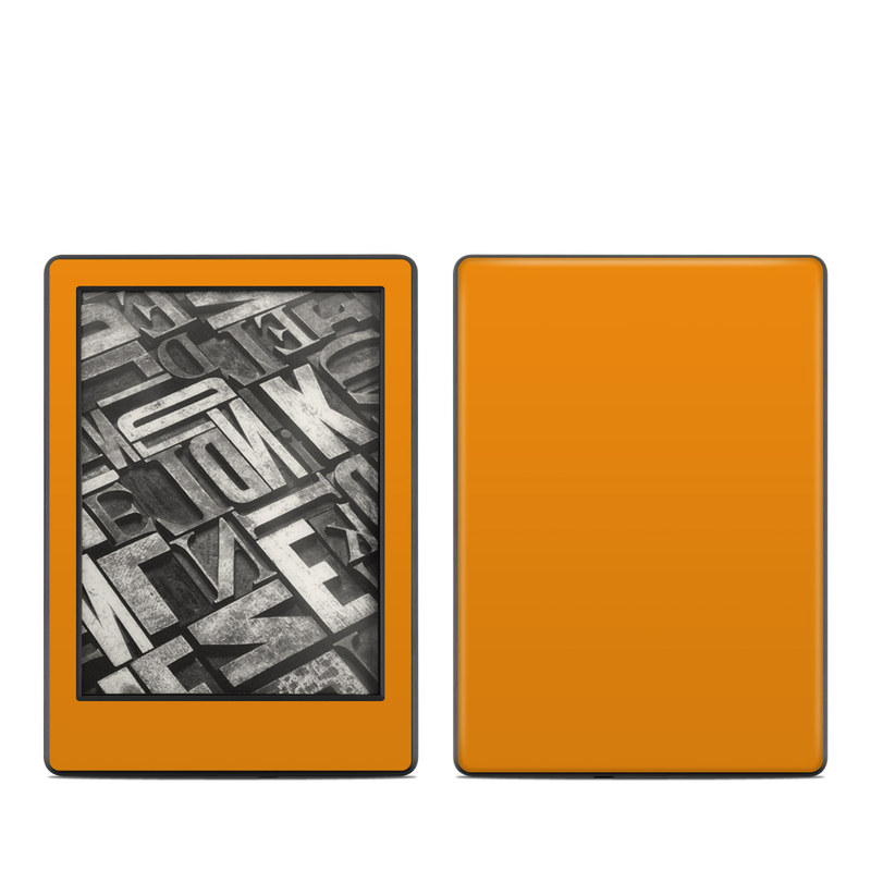Amazon Kindle 8th Gen Skin design of Orange, Yellow, Brown, Text, Amber, Font, Peach with orange colors