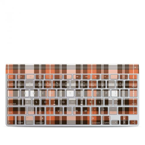 Copper Plaid Apple Wireless Keyboard Skin
