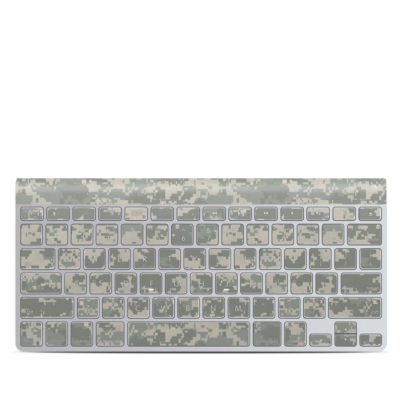 Apple Wireless Keyboard Skin design of Military camouflage, Green, Pattern, Uniform, Camouflage, Design, Wallpaper with gray, green colors