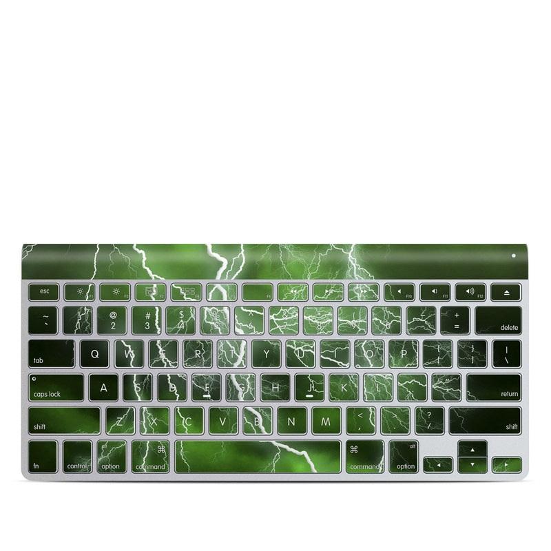 f423c64192d Apple Wireless Keyboard Skin design of Thunderstorm, Thunder, Lightning,  Nature, Green,