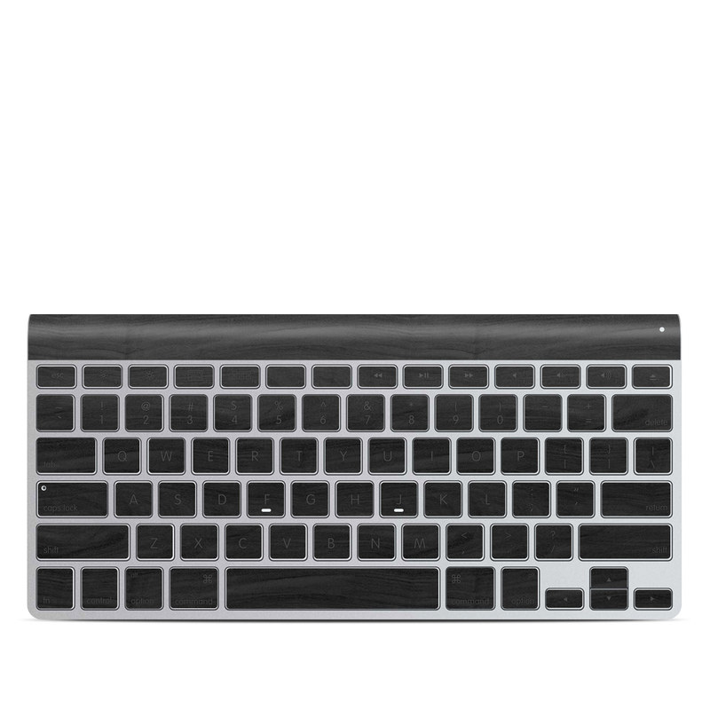 Black Woodgrain Apple Wireless Keyboard Skin