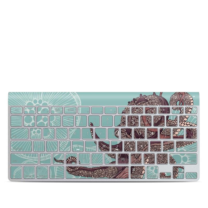 Octopus Bloom Apple Wireless Keyboard Skin
