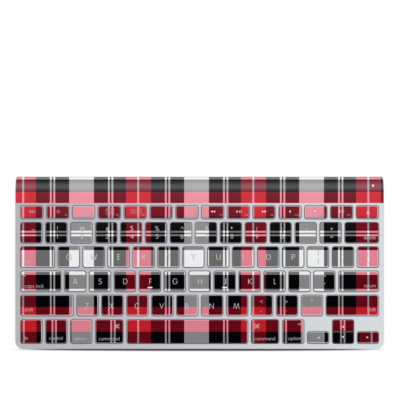 Red Plaid Apple Wireless Keyboard Skin