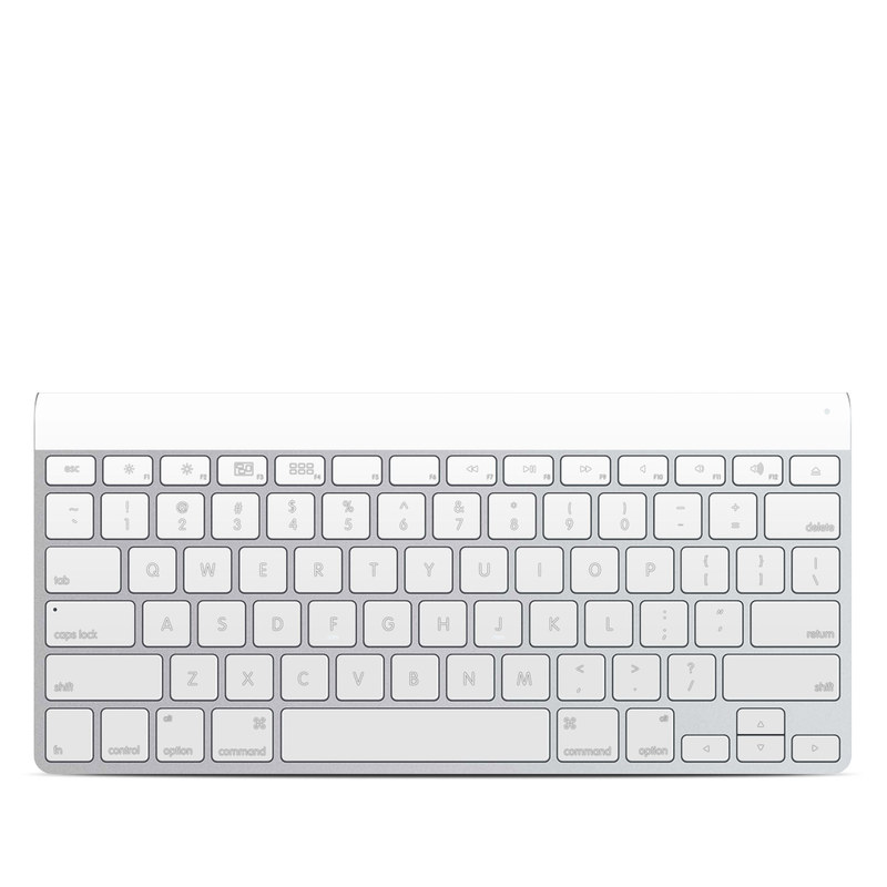 Apple Wireless Keyboard Skin design of White, Black, Line with white colors