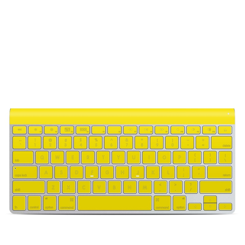Solid State Yellow Apple Wireless Keyboard Skin