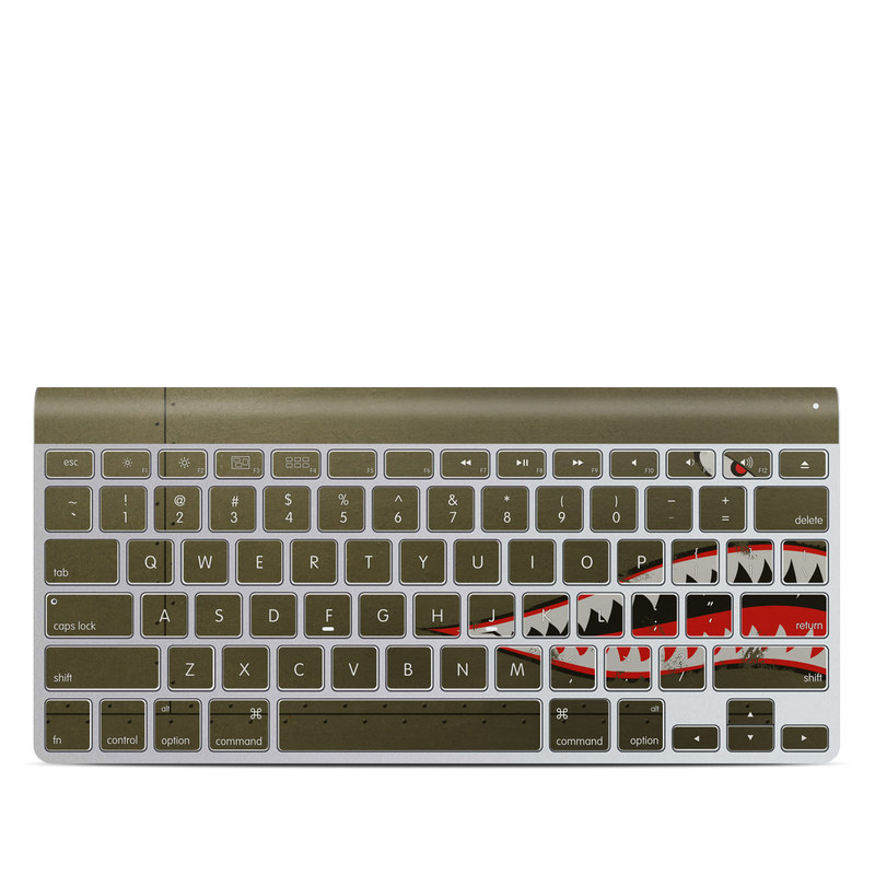 Apple Wireless Keyboard Skin design of Red, Leaf, Plant, Illustration, Art, Carmine, Graphics, Perennial plant with black, red, gray colors