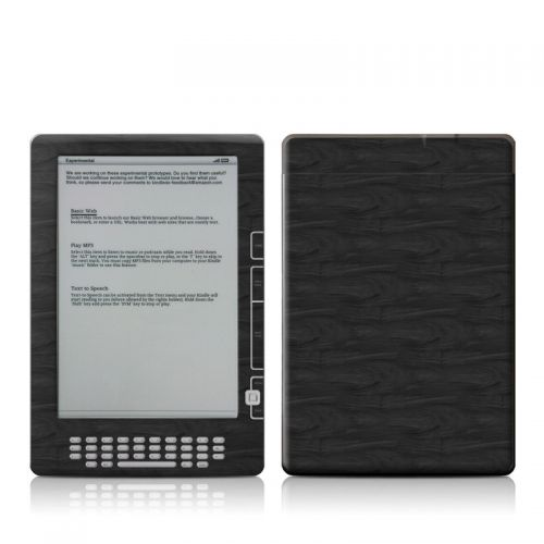 Black Woodgrain Amazon Kindle DX Skin