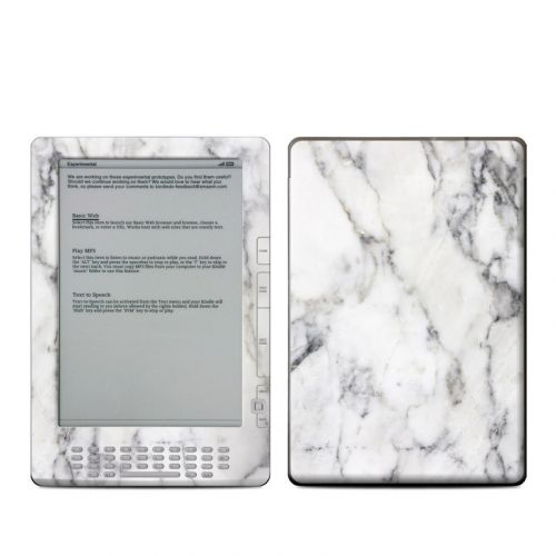 White Marble Amazon Kindle DX Skin