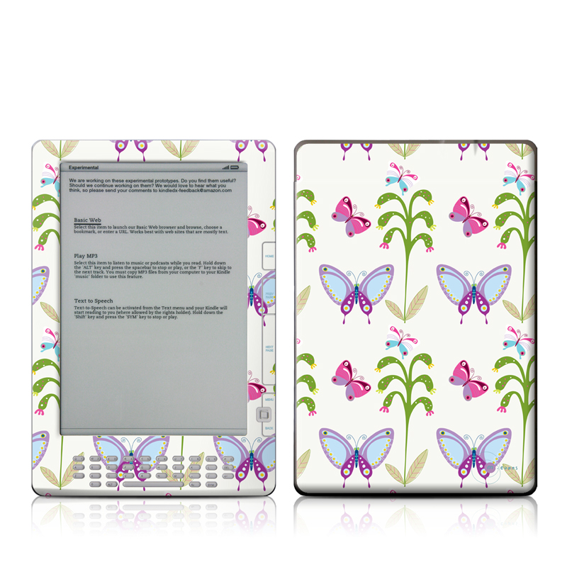Butterfly Field Amazon Kindle DX Skin