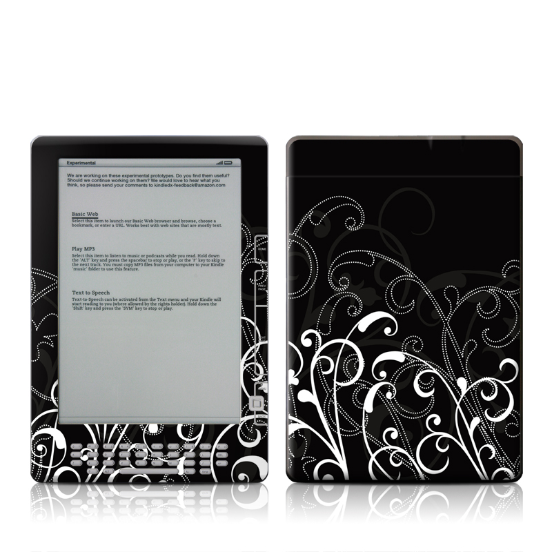 B&W Fleur Amazon Kindle DX Skin