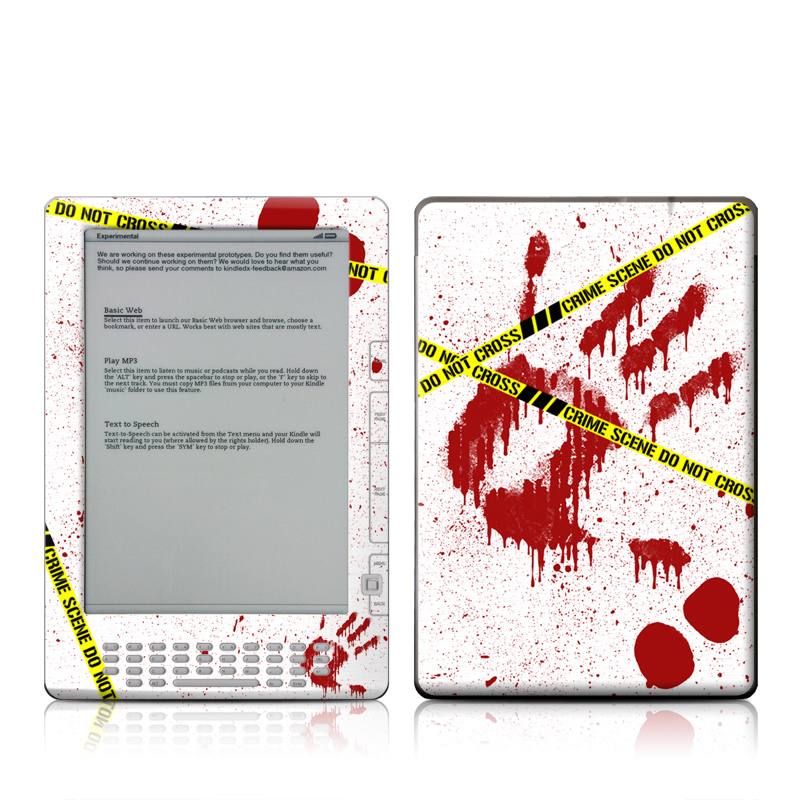 Crime Scene Revisited Amazon Kindle DX Skin
