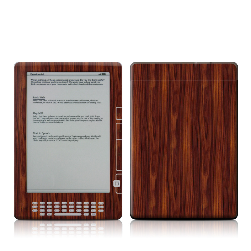 Dark Rosewood Amazon Kindle DX Skin