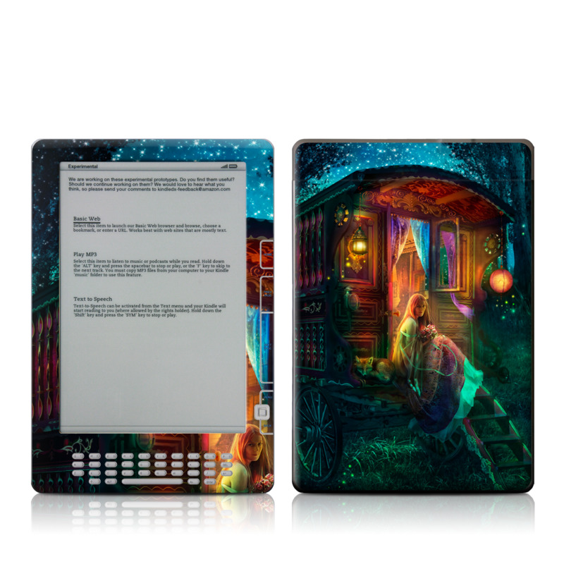 Gypsy Firefly Amazon Kindle DX Skin