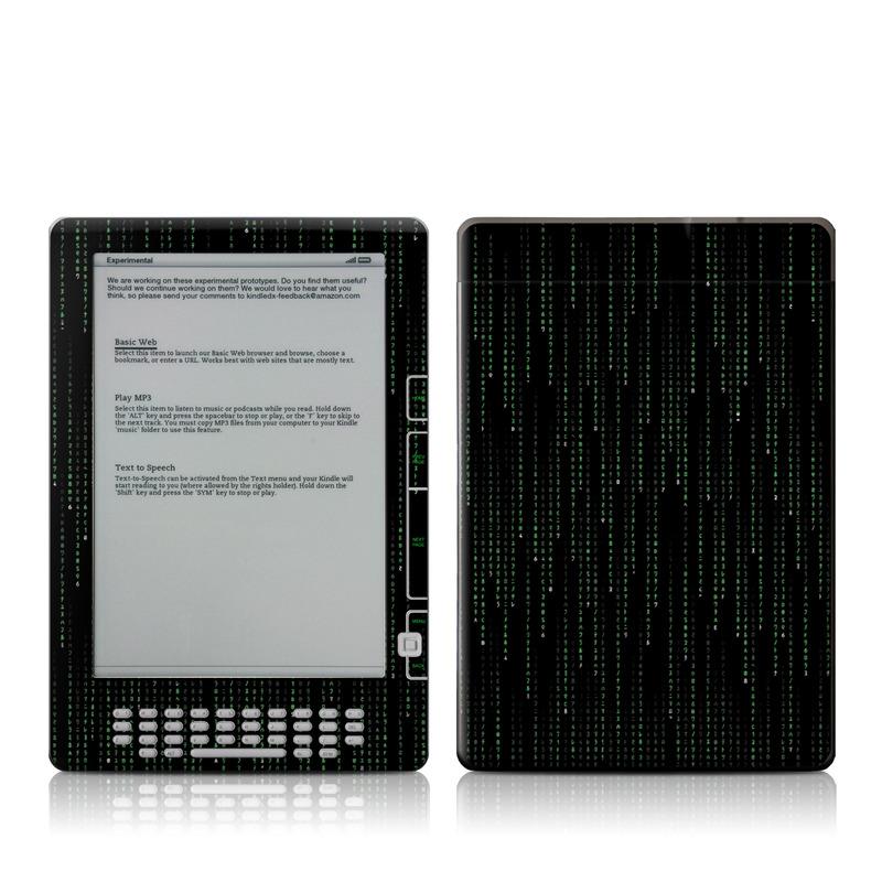Matrix Style Code Amazon Kindle DX Skin