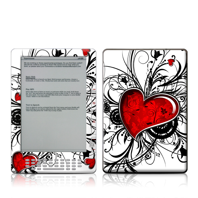 My Heart Amazon Kindle DX Skin