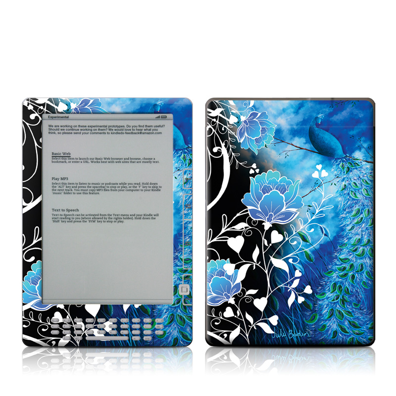 Peacock Sky Amazon Kindle DX Skin