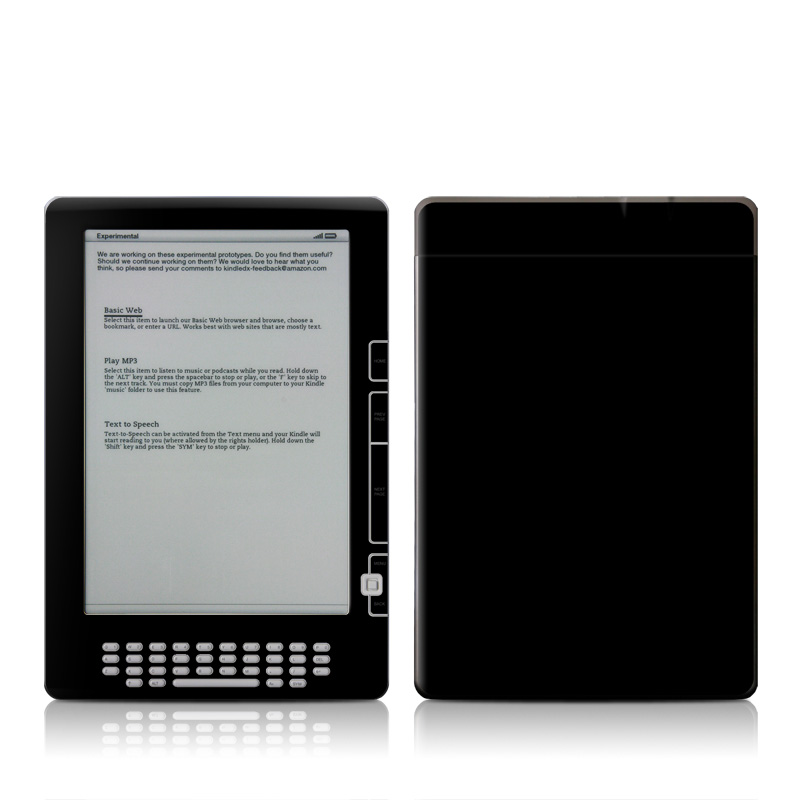 Solid State Black Amazon Kindle DX Skin