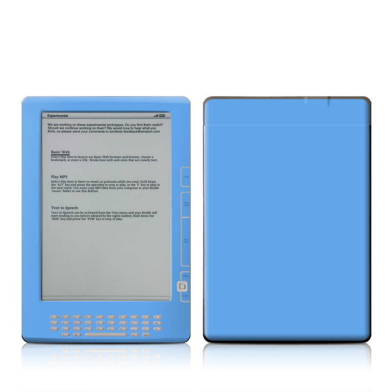 Solid State Blue Amazon Kindle DX Skin