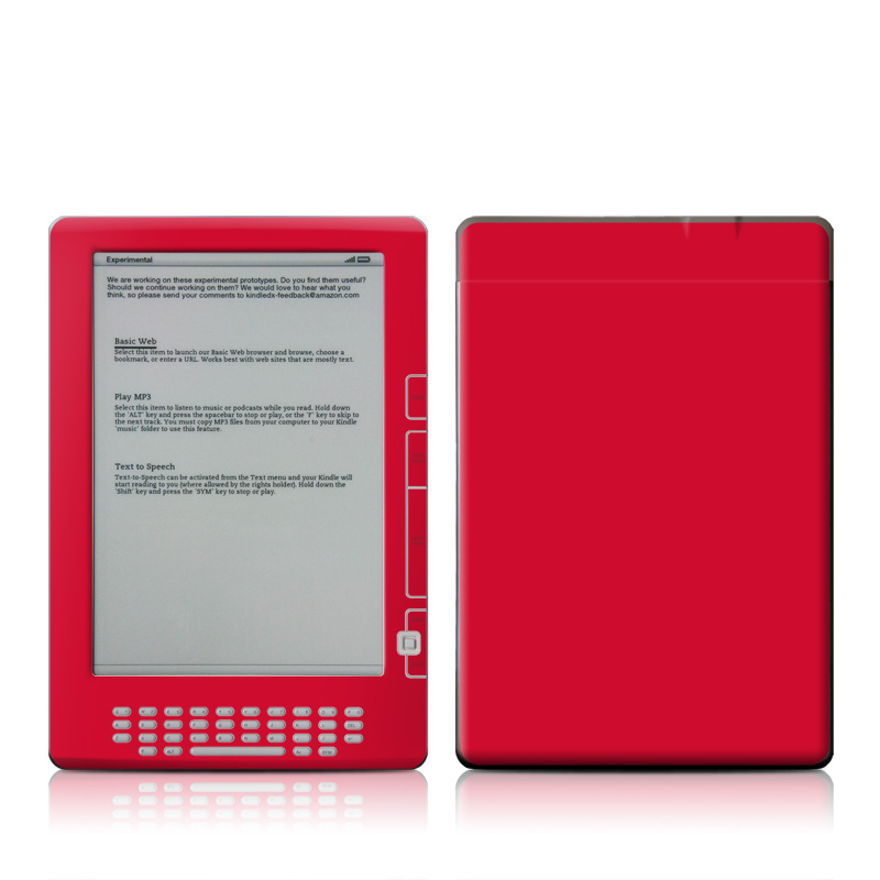 Solid State Red Amazon Kindle DX Skin