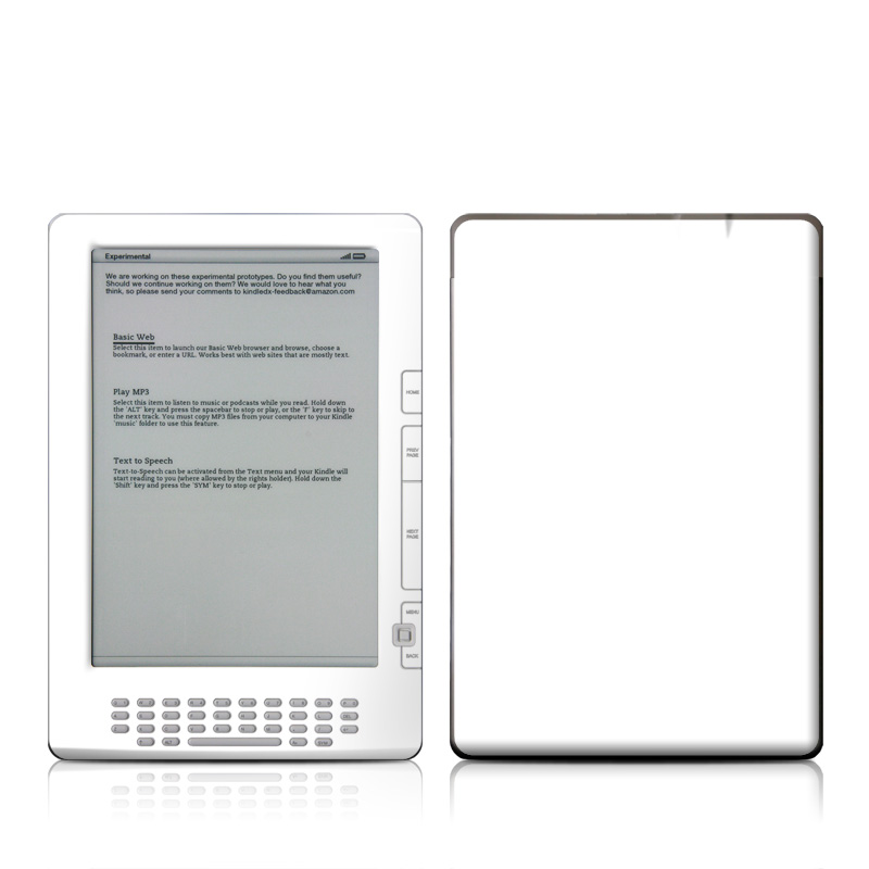 Solid State White Amazon Kindle DX Skin