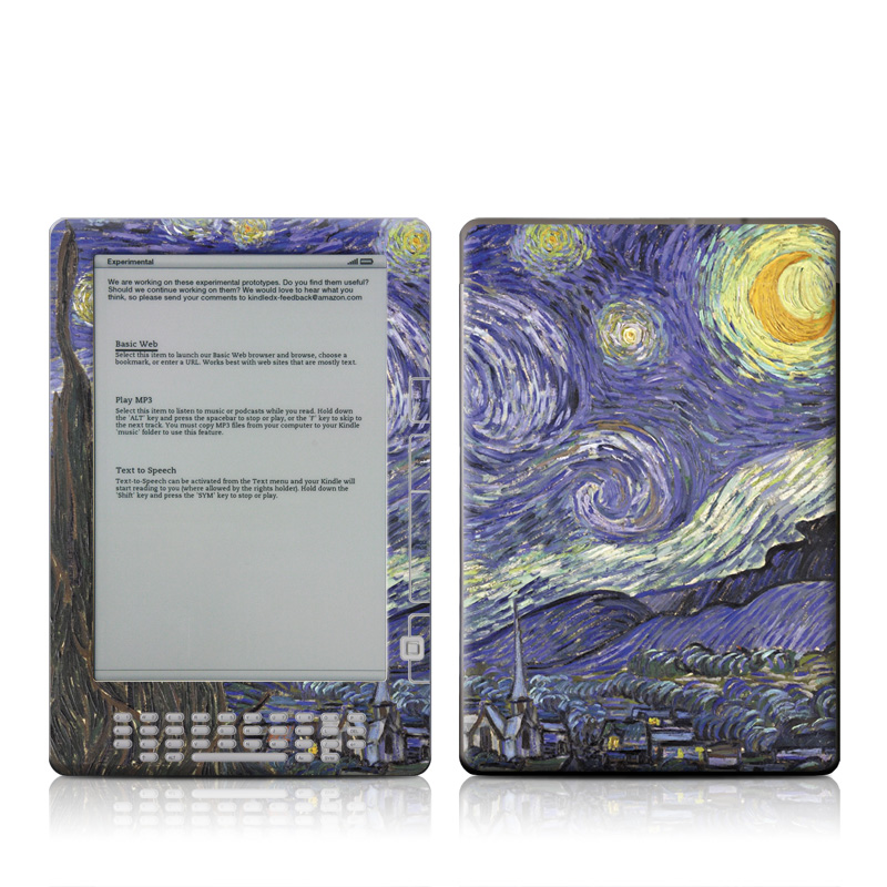 Starry Night Amazon Kindle DX Skin
