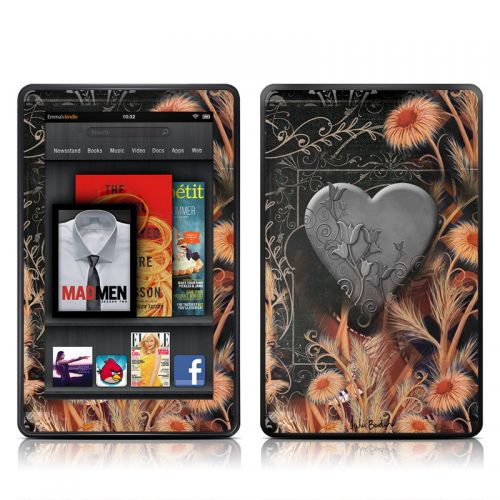 Black Lace Flower Amazon Kindle Fire Skin