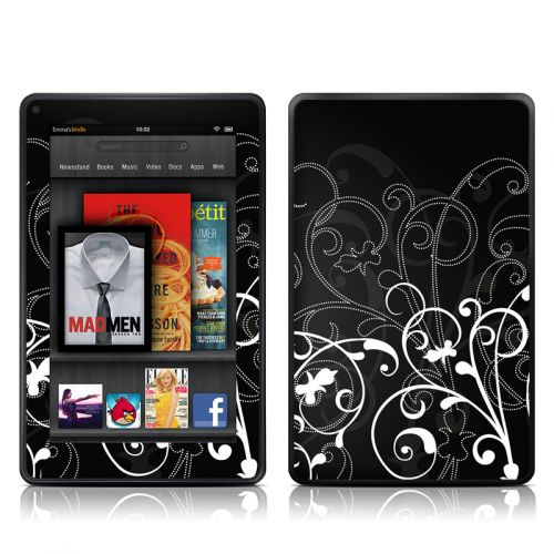 B&W Fleur Amazon Kindle Fire Skin