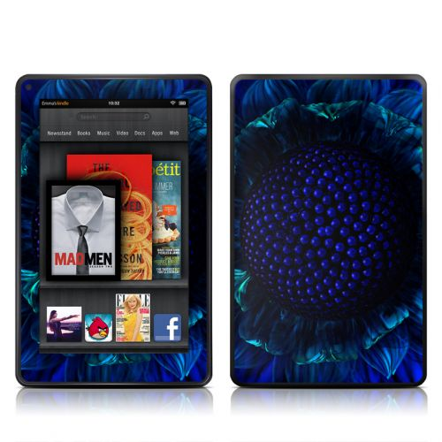 Cobalt Daisy Amazon Kindle Fire Skin